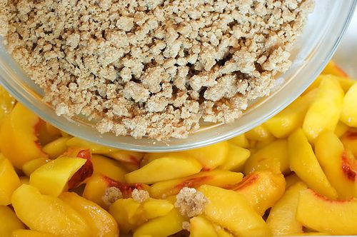 Peach Crisp with Maple Cream Sauce | Recipe