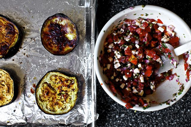 roasted eggplant with tomatoes and mint | smitten kitchen