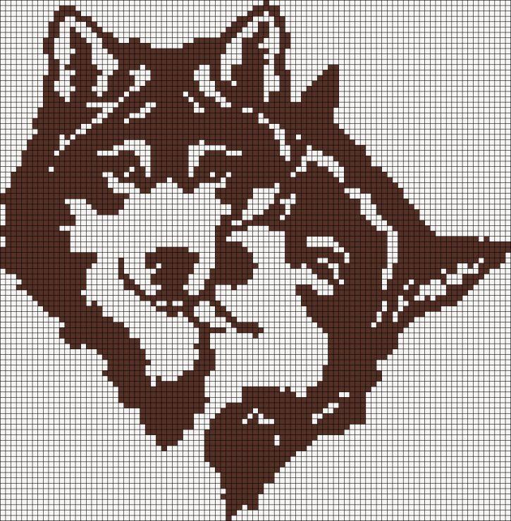 Схема для вышивки белые волки 112