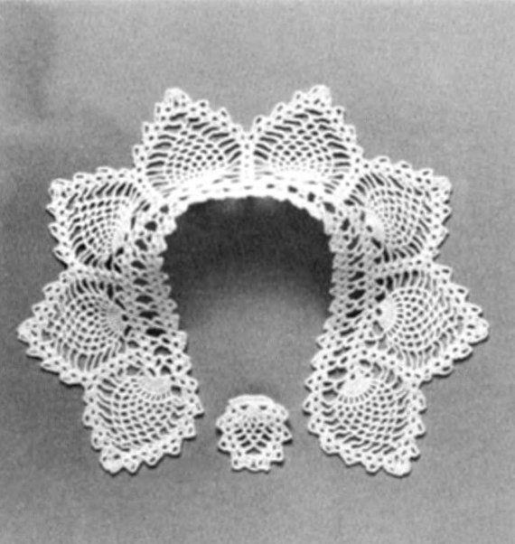 Crochet Lace Patterns, Crochet Collar Patterns, Peter Pan ...