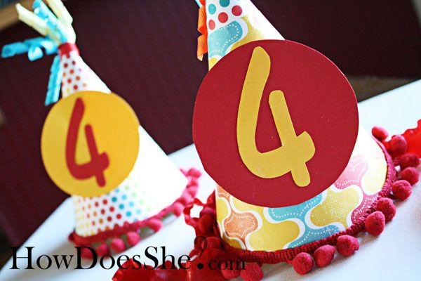 Make your own adorable, themed birthday party hat with this tutorial!
