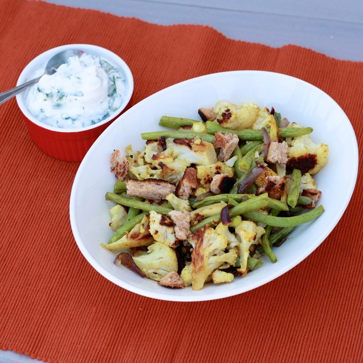 Curried cauliflower green bean salad | {Salads} | Pinterest