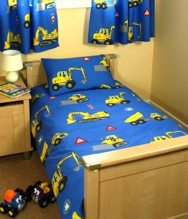 Digger Tractor Trucks Toddler Bedding