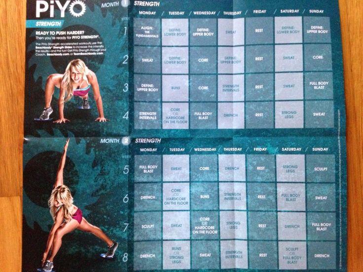piyo strength workout calendar - | working it | Pinterest