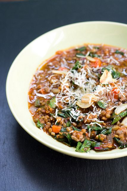 Lentil Soup with Sausage, Chard and Garlic #recipe by Courtney | Cook ...