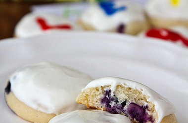 Blueberry Yogurt Cookies with Lemon Cream Cheese Frosting Recipes. # ...