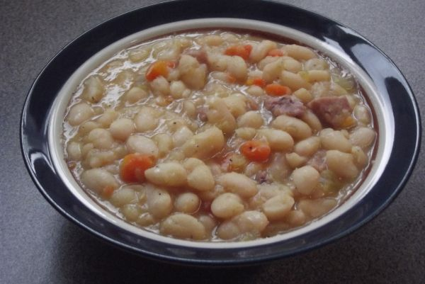 White Bean Soup with Ham; Recipe | Beans Recipes | Pinterest