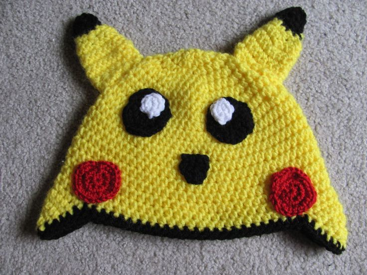 Pikachu hat crochet pattern crochet hats pinterest