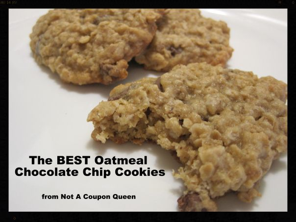the BEST Oatmeal Chocolate Chip Cookies | Cookies | Pinterest