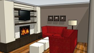 accrocher tv au mur dikke houten balken. Black Bedroom Furniture Sets. Home Design Ideas
