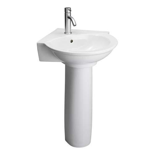 ... White Corner Pedestal Sink Barclay Products Pedestal Bathro