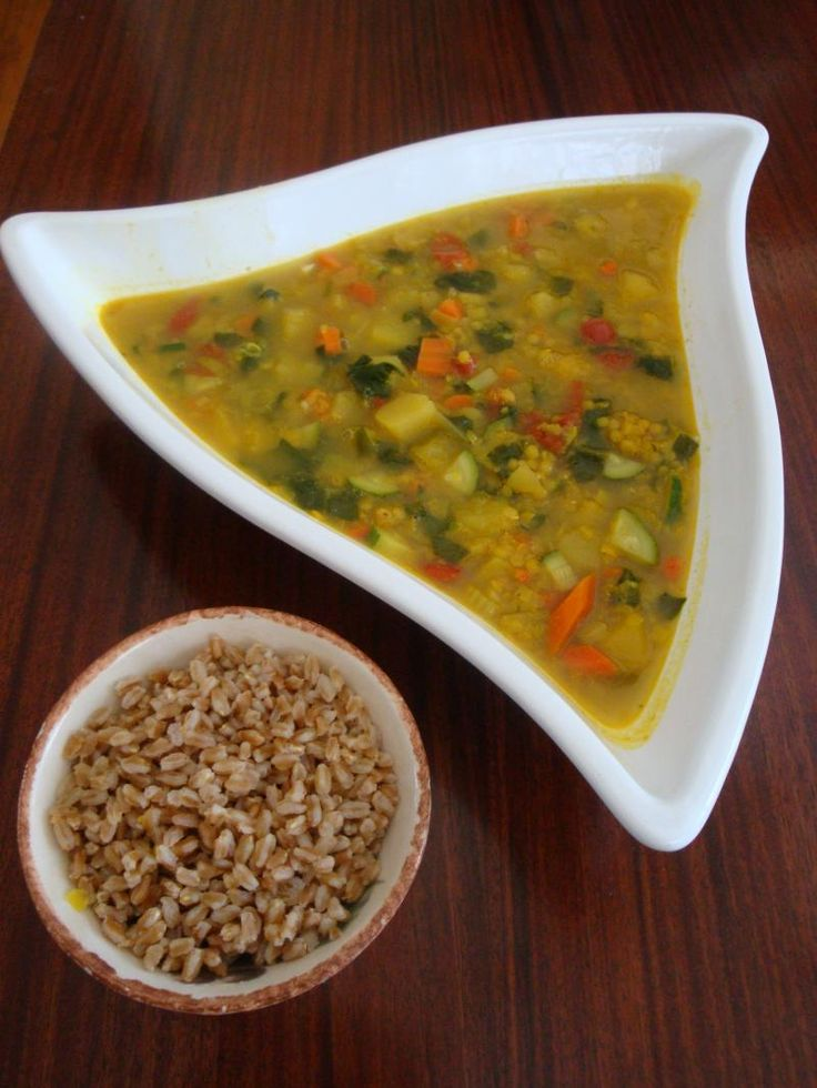 Red Lentil Vegetable soup with Farro | Hot In The Kitchen !!! | Pinte ...