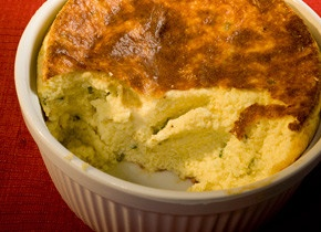 Jack Cheese and Grits Souffle. Perfectly southern ♥