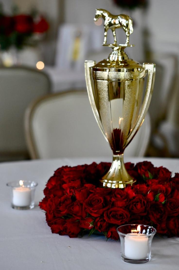 Trophy centerpiece kentucky derby recipes pinterest