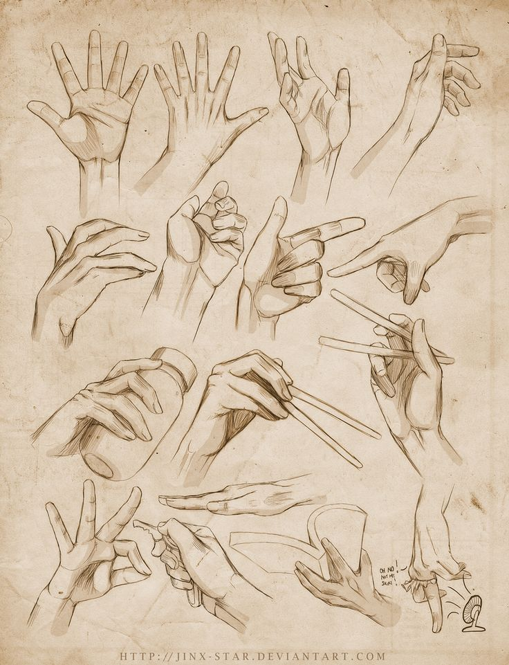dibujar poses de las manos agarrando objetos