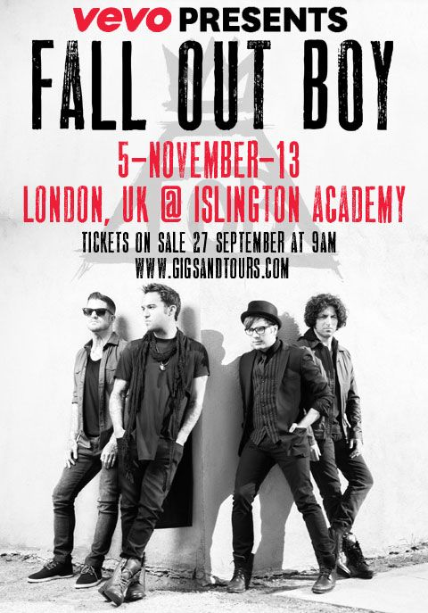 Fall Out Boy have announced UK tour dates for 2015.