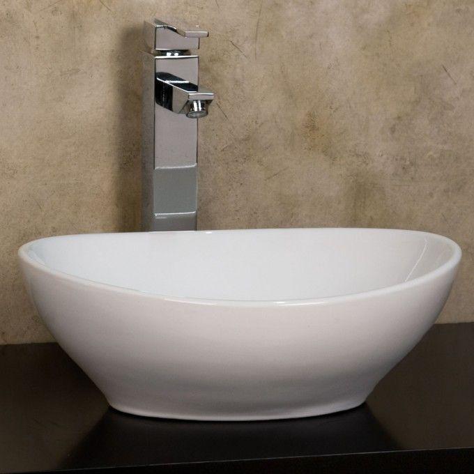 White Vessel Bathroom Sink : ... Oval Vessel Sink - White - Vessel Sinks - Bathroom Sinks - Bathroom