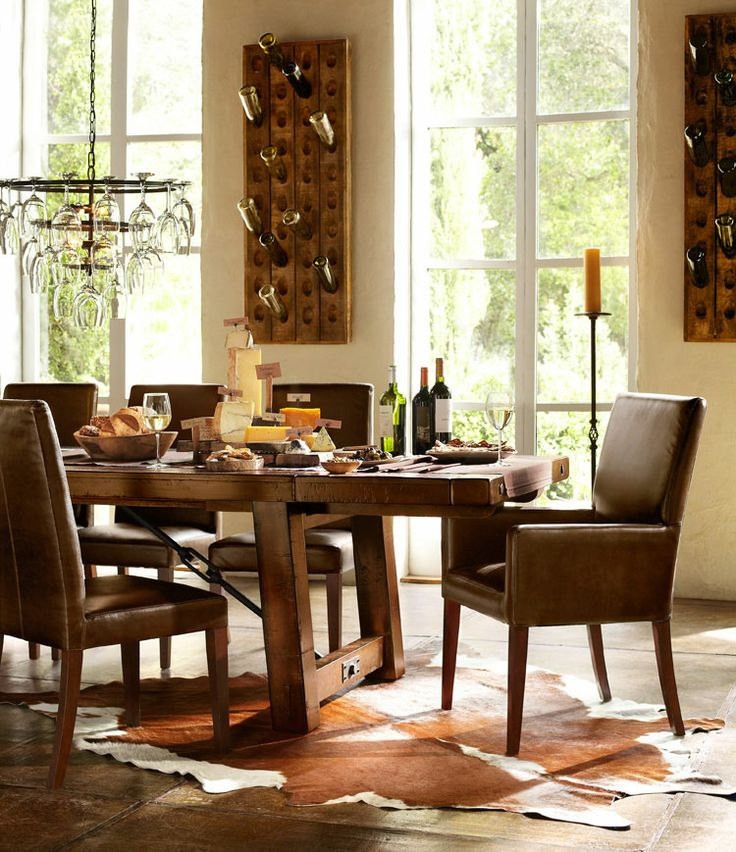 pottery barn dining room pinterest