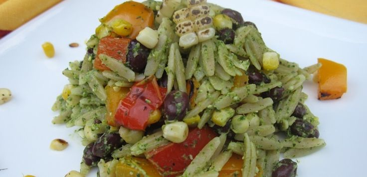 Orzo Salad with Cilantro Lime Pesto-This super summer salad captures ...