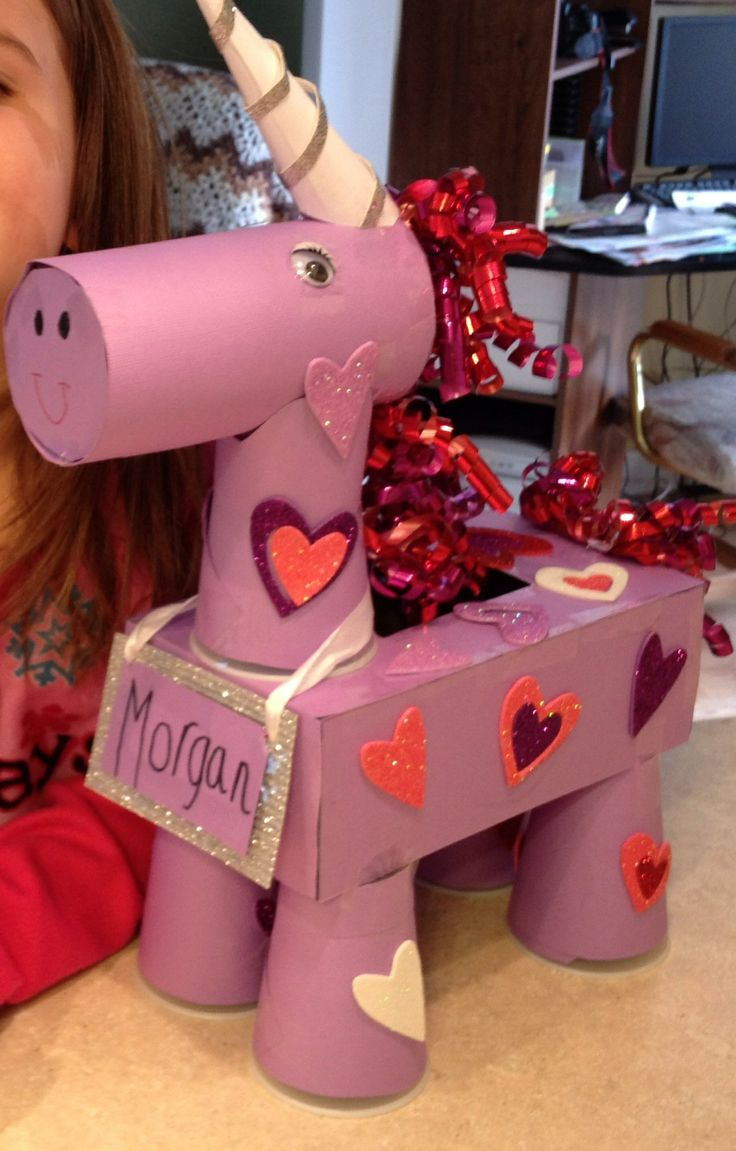 unicorn valentines day box