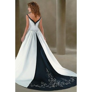 Navy Blue Wedding Dresses hiwdc28 from the back, although it is a little more stark than the ...