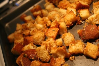 Parmesan-herb croutons | Must Try Food | Pinterest
