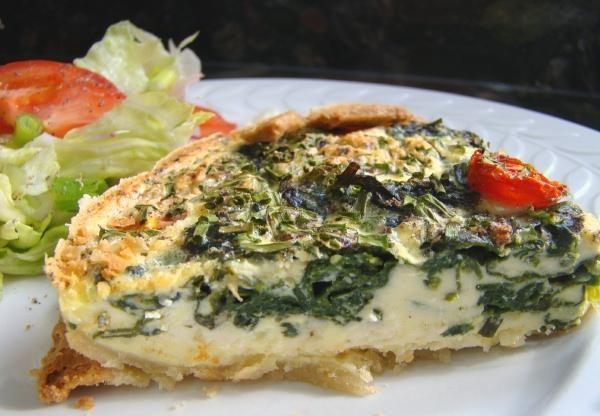 Spinach, Tomato and Feta Quiche | Recipe