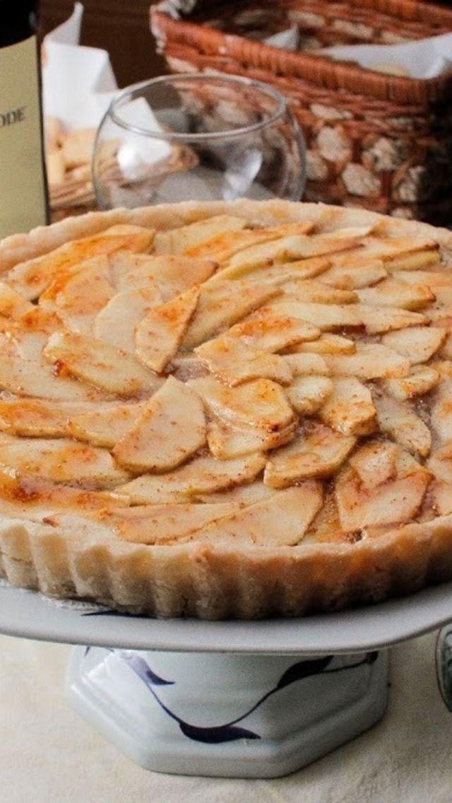Apple Walnut Tart With Fig Glaze Recipe — Dishmaps