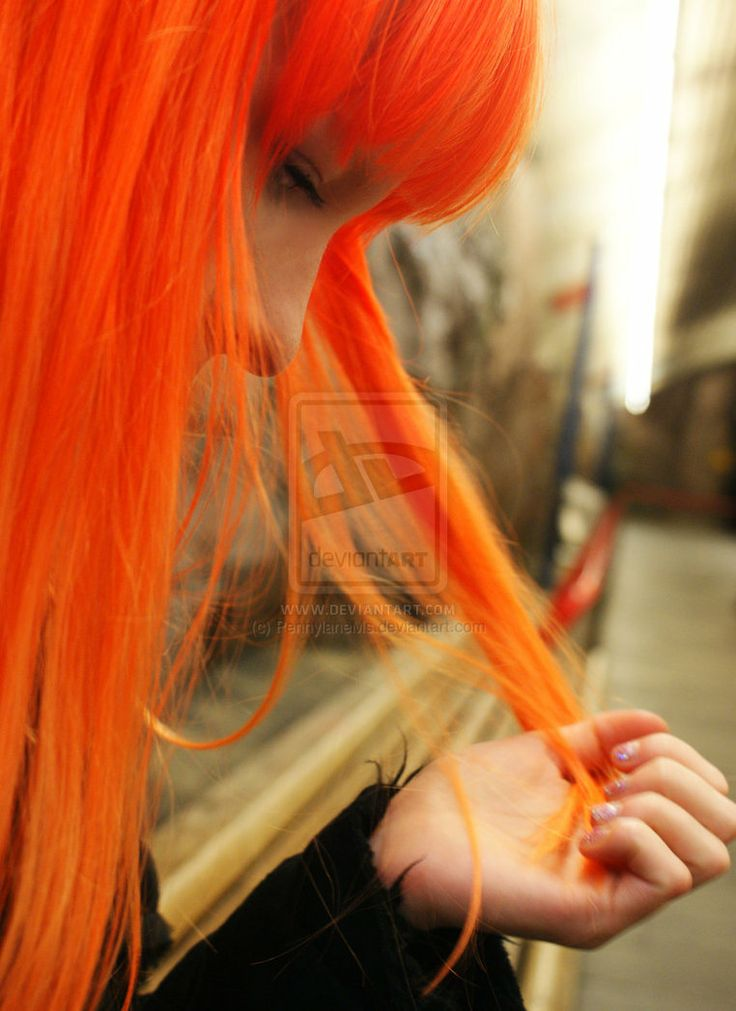 ... citrus-colored hair. You really don't. | BLOOD ORANGE... | Pinterest