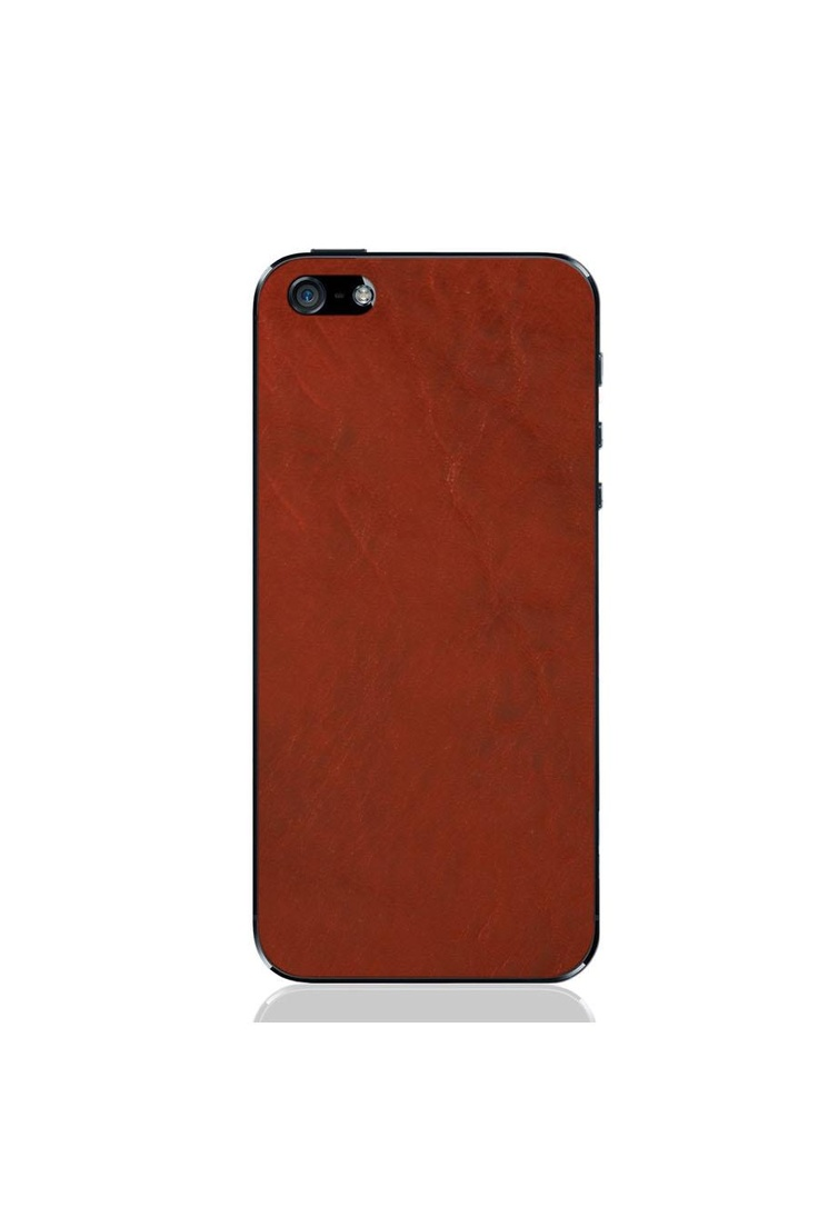 iPhone 5 Crimson Leather Case.