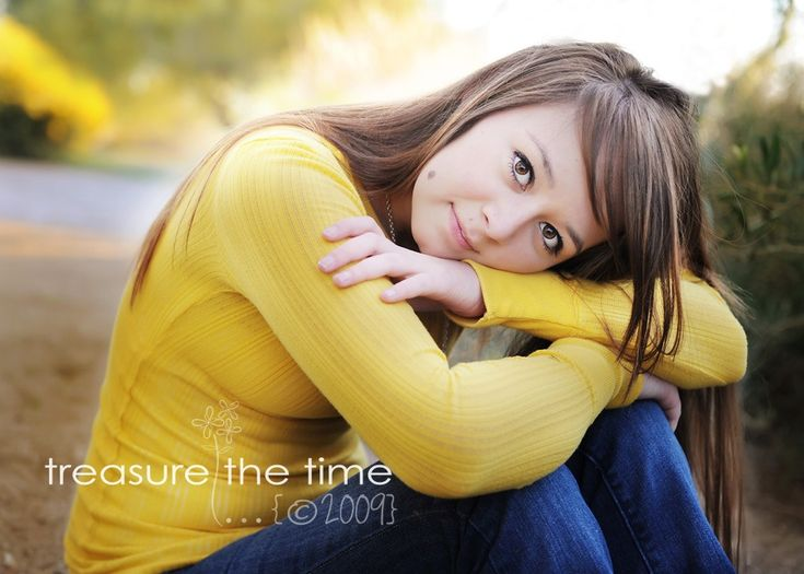 Senior Pose Tip - Shooting at a slight downward angle, particularly for close-ups, helps to slim your subjects face. It helps to reduce or hide any double chins and is a very flattering angle for most everyone. Just make sure that you don't get stuck in the rut of always shooting from that angle when shooting close-ups.