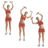 Lose those love handles with 3 exercises, + hand weights, that work on the obliques.