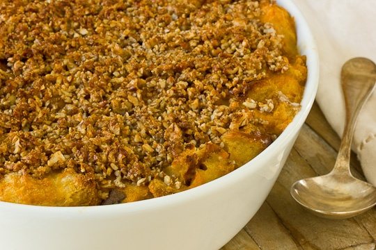 Recipe: Sweet Potato Bread Pudding with Pecan Streusel & Whiskey Sauce ...