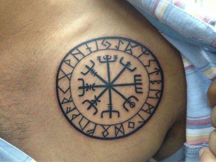 Viking vegvisir tattoo...