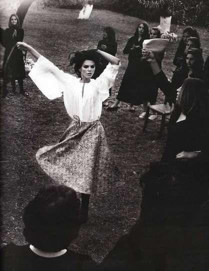 A Romani woman dancing.