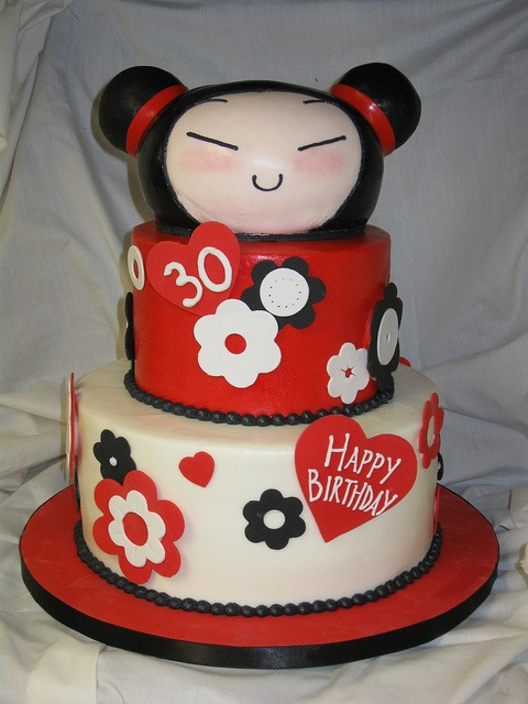 Pucca Birthday Cake by hainesbarksdale, via Flickr