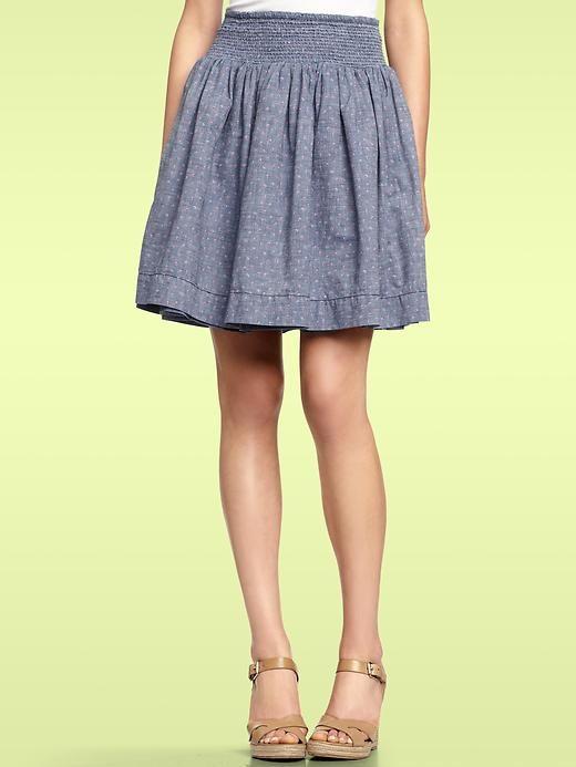 Reversible Chambray Skirt