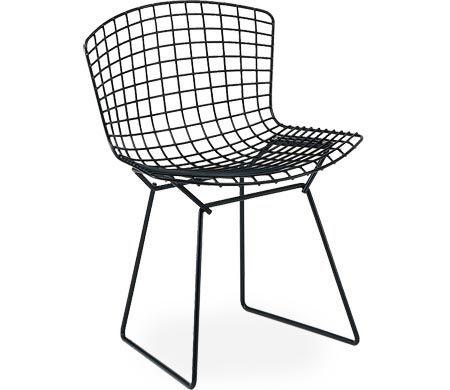 Knoll bertoia side chair unupholstered white orange or chrome
