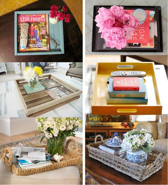Coffee table tray ideas d e s i g n d e c o r pinterest for Aana decoration decorative tray