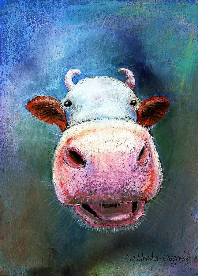 Colorful Cow - Arline Wagner [I love his derpy face! :-]