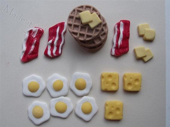 Handmade Edible Bacon, Egg, Cheese,Waflles, Butter cake & cupcake ...