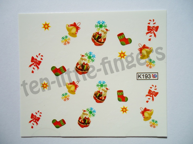 Ten little fingers blogspot com christmas nail decals and many more