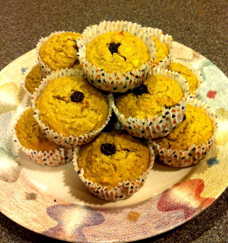 Banana walnut rasin quinoa muffins :-) I altered the strawberry banana ...