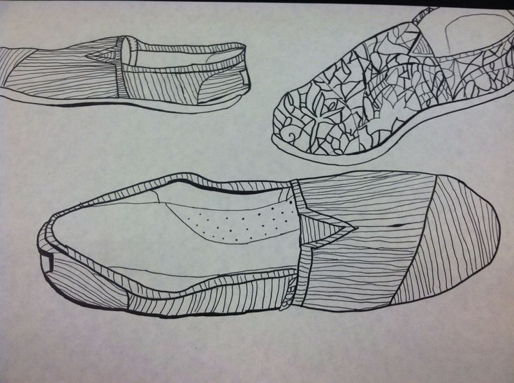 Line Drawing Shoes : Contour line shoe drawings foet pinterest