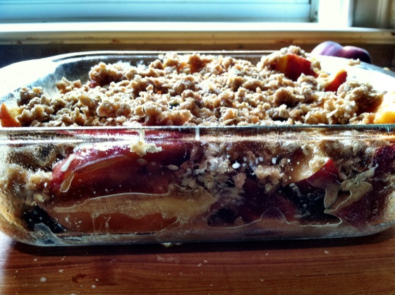 Peach Blueberry Crumble | Healthy Sweet's | Pinterest