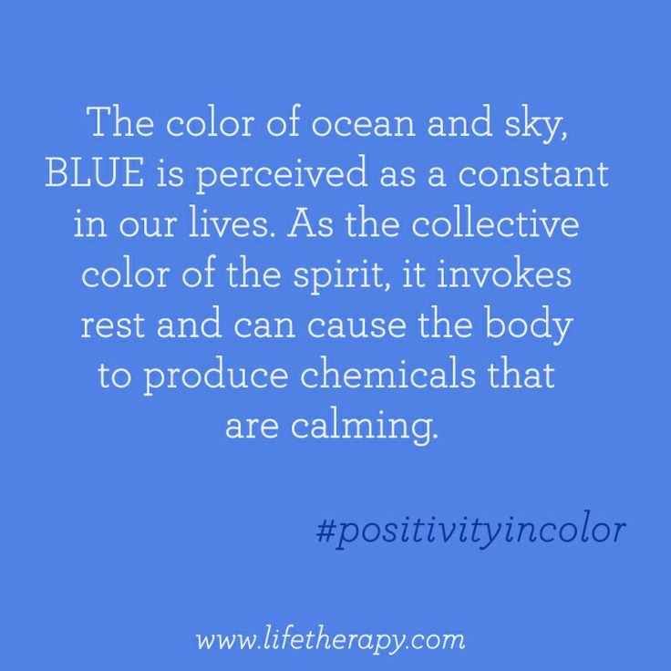 The Calming Peaceful Color Of Blue Positivityincolor