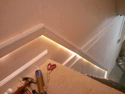 stair lighting good idea for basement stairs i 39 d like to do this