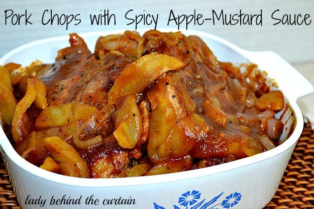 Pork Chops with Spicy Apple-Mustard Sauce
