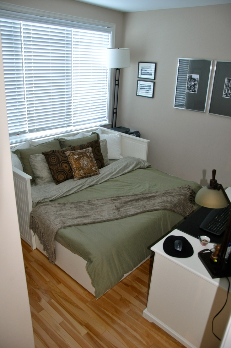Current spare bedroom office the office pinterest for Spare bedroom office ideas
