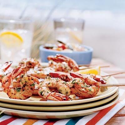 Lemon Garlic Shrimp Skewers | recipes | Pinterest